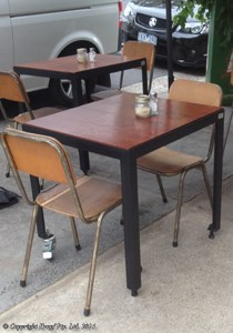 cafe furniture 4 leg table