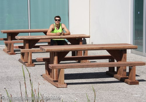 solid timber patio furniture seats